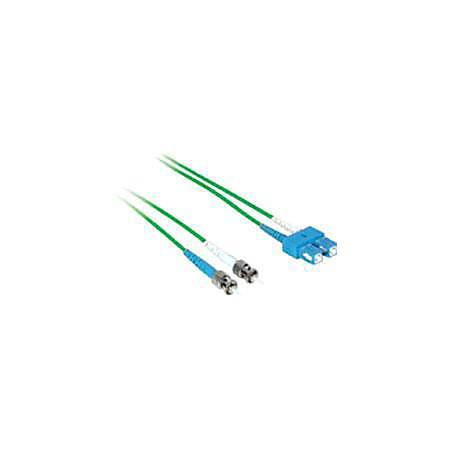 C2G-5m SC-ST 9/125 OS1 Duplex Singlemode PVC Fiber Optic Cable - Green