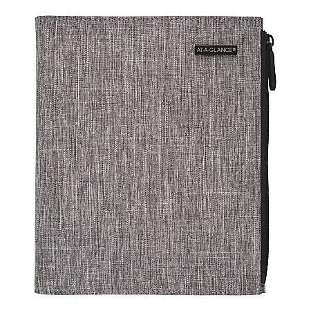 "Day-Timer® Undated Chambray Organizer Starter Set, 5-1/2"" x 8-1/2"", Gray"