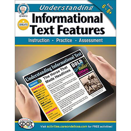 Mark Twain Understanding Informational Text Features Workbook, Grades 6-8+