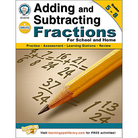 Mark Twain Adding and Subtracting Fractions Workbook, Grades 5-8