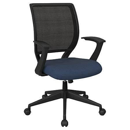 Office Star™ Work Smart Mesh Task Chair, Blue Galaxy/Black
