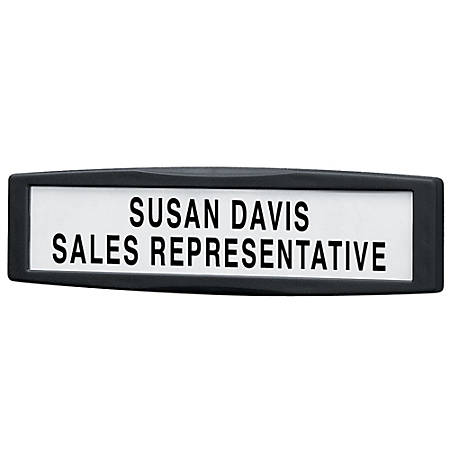 Fellowes® Partitions Additions™ 72% Recycled Name Plate, Dark Graphite