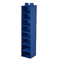 """Honey-Can-Do 8-Shelf Hanging Vertical Closet Organizer, 54""""H x 12""""W x 12""""D, Navy"""
