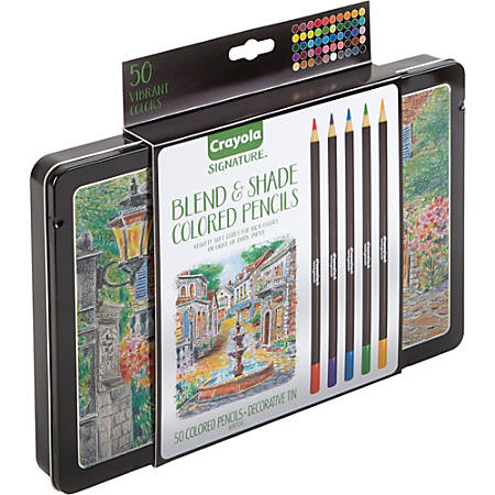 Crayola 50 Count Signature Blend & Shade Colored Pencils In Decorative Tin - 50 / Set