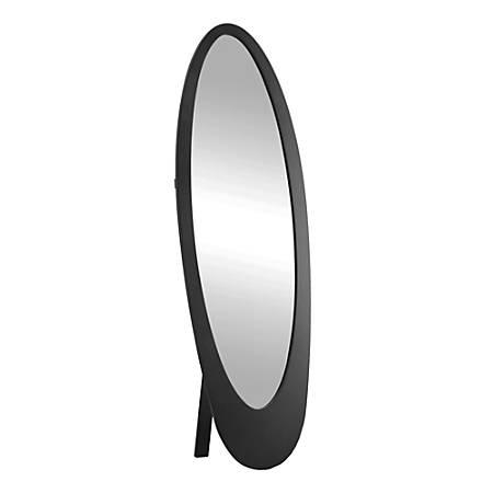 """Monarch Specialties Santiago Oval Mirror, 59""""H x 18-3/4""""W x 18-1/2""""D, Black"""