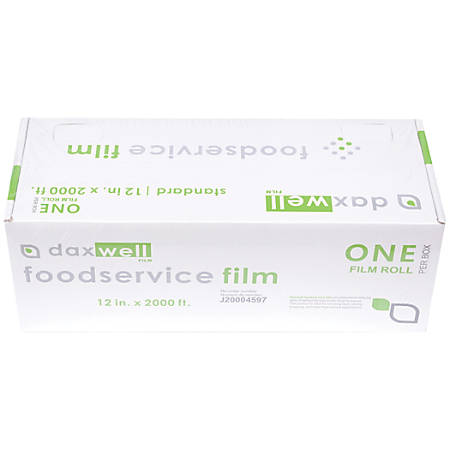"Daxwell Food Film Wrap, 12"" x 2,000', Clear"