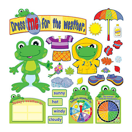 Carson-Dellosa Bulletin Board Set, Funky Frog Weather, Grades Pre-K - 2