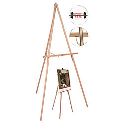 MasterVision Lightweight Display Floor Easel Wood
