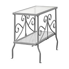 Monarch Specialties Side Table Glass Rectangle