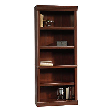 "Sauder® Heritage Hill 72""H Bookcase, Open 5-Shelf, Classic Cherry"
