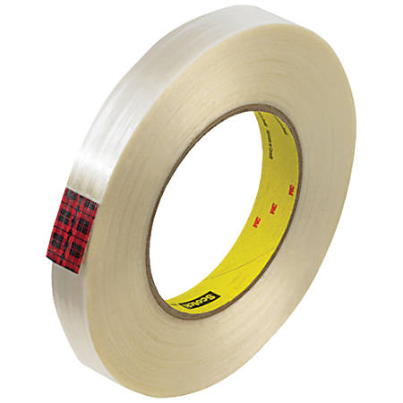 """Scotch® 890MSR Strapping Tape, 3"""" Core, 0.75"""" x 60 Yd., Clear, Case Of 48"""