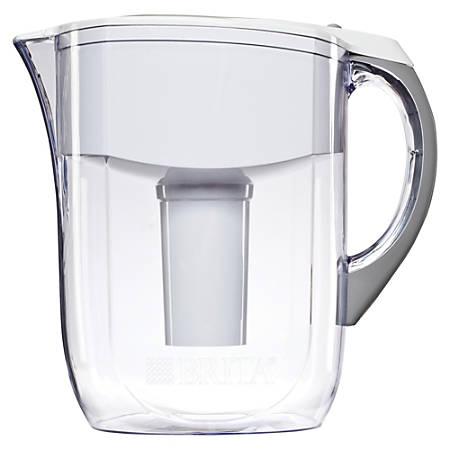Brita® 10-Cup Grand Water Filter Pitcher, White