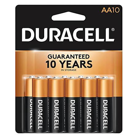Duracell® CopperTop AA Alkaline Batteries, Pack Of 10