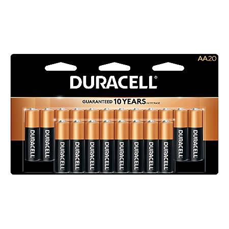 Duracell CopperTop AA Alkaline Batteries, Pack Of 20