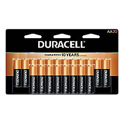 Duracell CopperTop AA Alkaline Batteries Pack