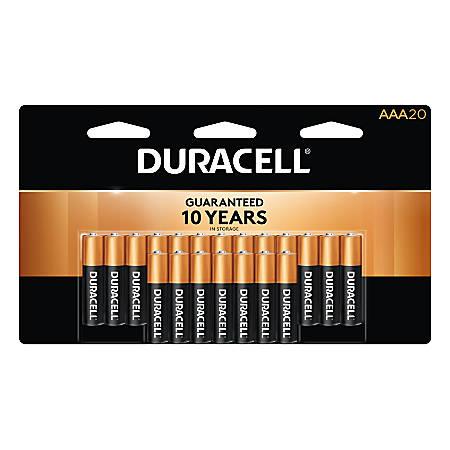 Duracell® Coppertop Alkaline AAA Batteries, Pack Of 20 Batteries