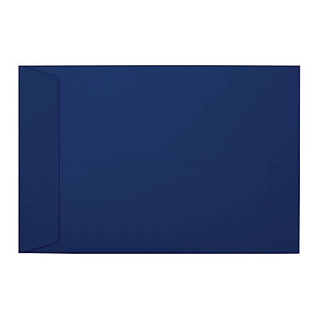 """LUX Open-End Envelopes With Peel & Press Closure, #6 1/2, 6"""" x 9"""", Navy, Pack Of 50"""