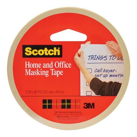 Scotch® Stationery Masking Tape, 3/4