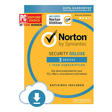 Norton™ Security Deluxe, For 3 Devices, 1-Year Subscription, Download Version