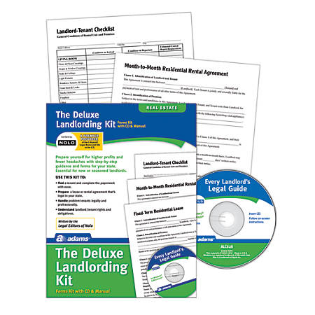 Adams® Landlording Kit, Forms and Instructions