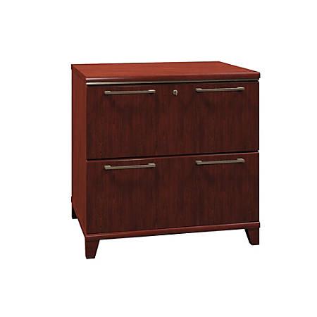 "Bush Business Furniture Enterprise 2 Drawer Lateral File Cabinet, 30""W, Harvest Cherry, Premium Installation"