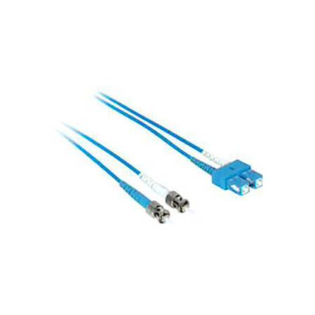 C2G-2m SC-ST 9/125 OS1 Duplex Singlemode Fiber Optic Cable (Plenum-Rated) - Blue - 2m SC-ST 9/125 Duplex Single Mode OS2 Fiber Cable - Plenum CMP-Rated - Blue - 6ft
