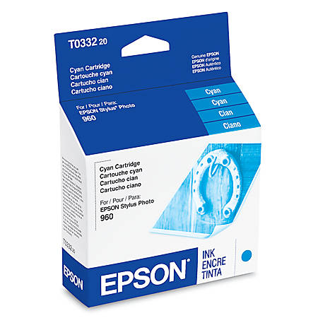 Epson® T0332 (T033220) Cyan Ink Cartridge
