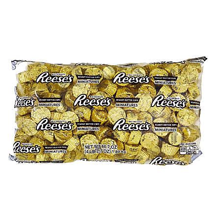 Reese's Peanut Butter Cup Miniatures, 4.1-Lb Bag
