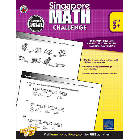 Frank Schaffer Singapore Math Challenge Workbook, Grade 3+