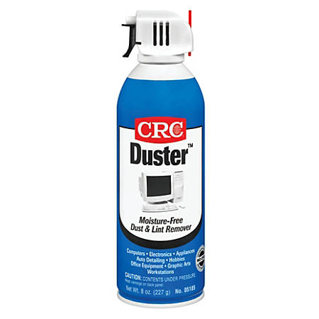 CRC Duster™ Moisture-Free Dust And Lint Remover, 16 Oz, Pack Of 12 Cans