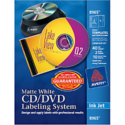 Avery Inkjet CDDVD Design Kit 8965