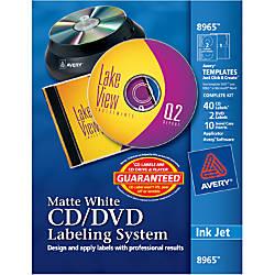 Avery Inkjet CDDVD Design Kit 8965