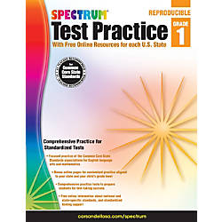 Spectrum Test Practice Workbook Grade 1