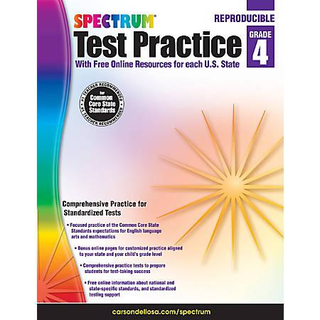 Spectrum Test Practice Workbook, Grade 4