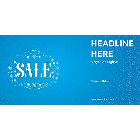 Custom Horizontal Banner, Sale Snowflakes