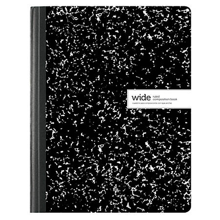 "Office Depot® Brand Composition Book, 7 1/2"" x 9 3/4"", Wide Ruled, 100 Sheets, Assorted Black/White Designs (No Design Choice)"