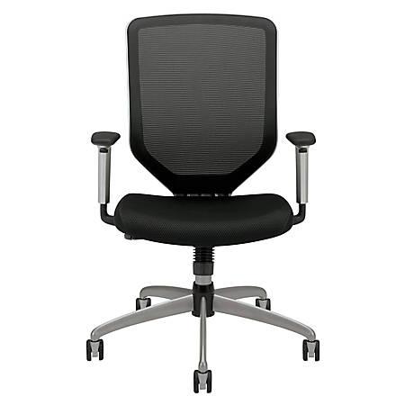 "HON® Boda™ High-Back Mesh Task Chair, 44""H x 27 3/4""W x 35 1/2""D, Black"