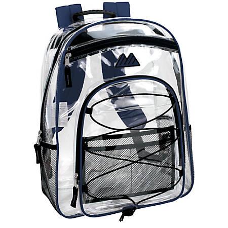 Trailmaker Water-Resistant Clear Backpack, Blue