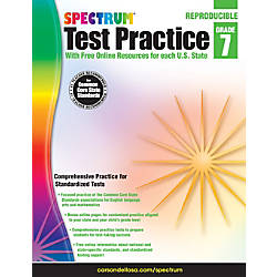 Spectrum Test Practice Workbook Grade 7