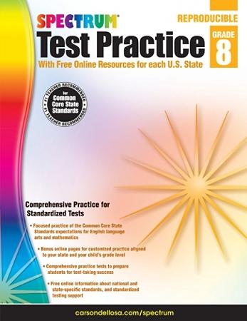 Spectrum Test Practice Workbook, Grade 8