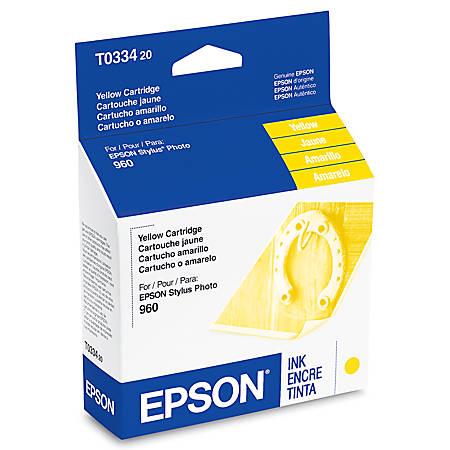 Epson® T0334 (T033420) Yellow Ink Cartridge