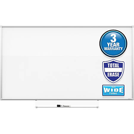 """Quartet Silhouette 50""""x28"""" Total Erase Board - 28"""" (2.3 ft) Width x 50"""" (4.2 ft) Height - White Melamine Surface - Rectangle - Assembly Required - 1 Each"""
