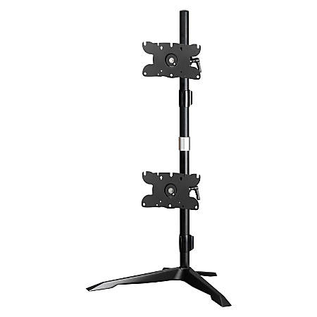 """Amer Dual Monitor Stand Vertical Mount Max 32"""" Monitors"""