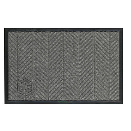 WaterHog Floor Mat, Eco Elite, 4' x 10', Gray Ash