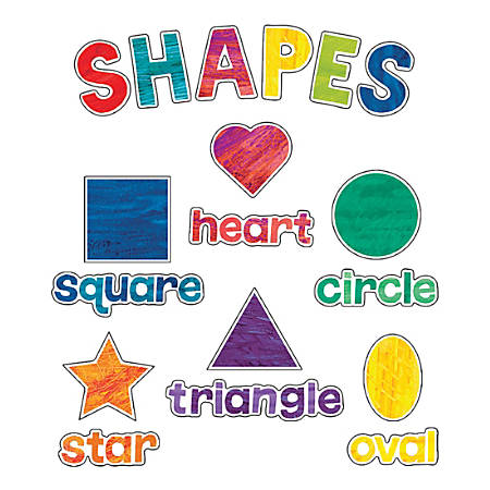 Carson-Dellosa World Of Eric Carle Shapes Mini Bulletin Board Set