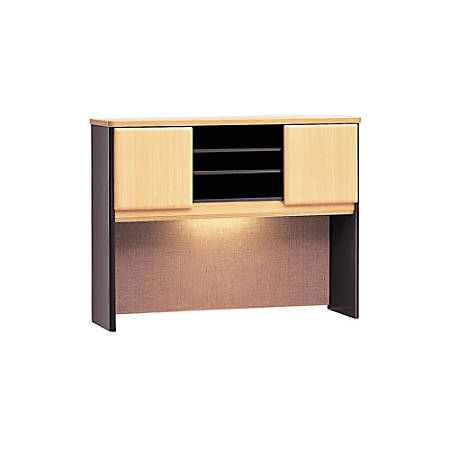 "Bush Business Furniture Office Advantage Hutch 48""W, Beech/Slate, Premium Installation"