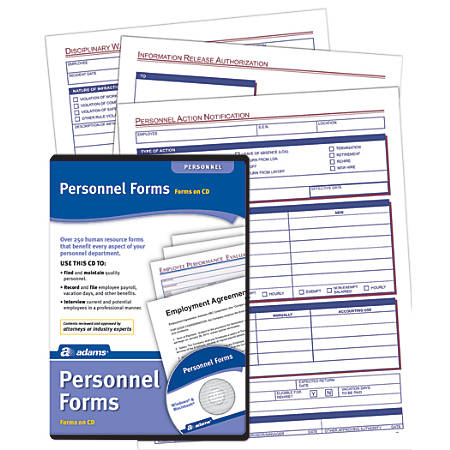 Adams® Employee Personnel Forms, CD