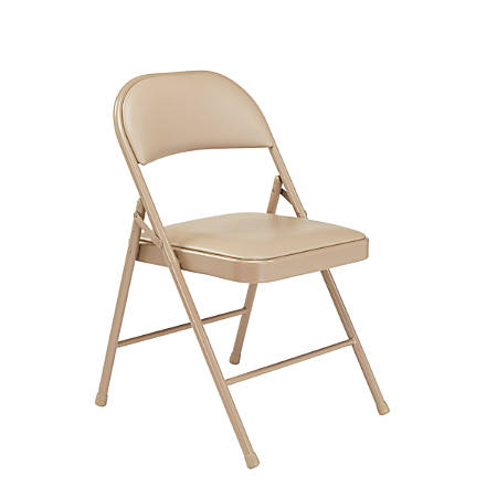National Public Seating Commercialine Folding Chairs, Beige, Set Of 4 Chairs