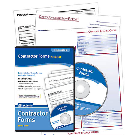 Adams® Contractor Forms, Traditional Disc