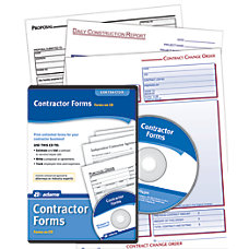 Adams Contractor Forms Traditional Disc